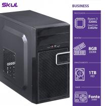 COMPUTADOR BUSINESS B300 - R3-3200G 3.6GHZ 8GB DDR4 HD 1TB HDMI/VGA FONTE 200W - 1