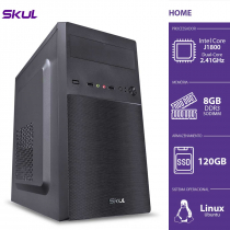 COMPUTADOR HOME H100 - CELERON DUAL CORE J1800 2.41GHZ MEM 8GB DDR3 SODIMM SSD 120GB HDMI/VGA FONTE 200W - 1