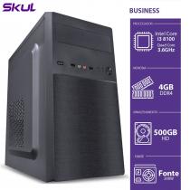 COMPUTADOR BUSINESS B300 - I3-8100 3.6GHZ 4GB DDR4 HD 500GB HDMI/VGA FONTE 200W - B81005004 - 1