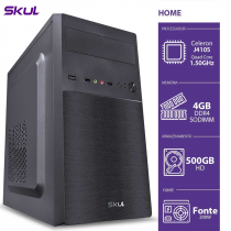 COMPUTADOR HOME H100 - CELERON QUAD CORE J4105 1.50GHZ MEM 4GB DDR4 SODIMM HD 500GB HDMI/VGA FONTE 200W - 1