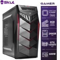 COMPUTADOR GAMER 5000 - I5 9400F 2.9GHZ 9ª GER. MEM. 8GB DDR4 SSD 240GB GTX 1050TI 4GB FONTE 600W - 1