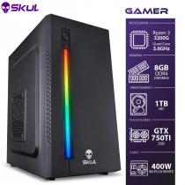 COMPUTADOR GAMER 3000 - R3 3200G 3.6GHZ MEM. 8GB DDR4 HD 1TB GTX 750TI 2GB FONTE 400W 80 PLUS WHITE - 1