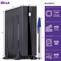 MINI COMPUTADOR BUSINESS B100 - CELERON DUAL CORE J1800 2.41GHZ 4GB DDR3 SODIMM SEM HD HDMI/VGA FONTE EXTERNA 60W - 1