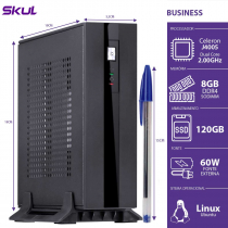 MINI COMPUTADOR BUSINESS B100 - CELERON DUAL CORE J4005 2.00GHZ 8GB DDR4 SODIMM SSD 120GB HDMI/VGA FONTE EXT. 60W - 1