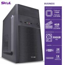 COMPUTADOR BUSINESS B100 - CELERON DUAL CORE J1800 2.41GHZ 4GB DDR3 SODIMM HD 500GB 2 SERIAL 1 PARALELA FONTE 200W