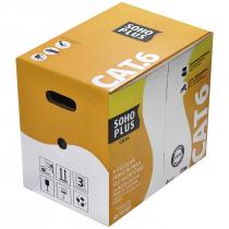 CABO LAN U/UTP 24AWG X 4 PARES CAT.6 CMX 305 METROS PRETO