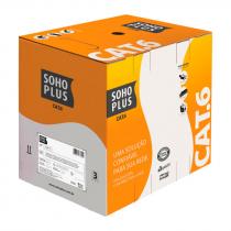 CABO LAN U/UTP 24AWG X 4 PARES CAT.6 CMX 305 METROS PRETO 23400187 - 1