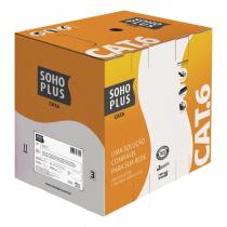 CABO LAN U/UTP 24AWG X 4 PARES CAT.6 CMX 305 METROS CINZA 23400200 - 1
