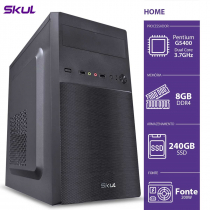 COMPUTADOR HOME H200 - PENTIUM DUAL CORE G5400 3.7GHZ MEM 8GB DDR4 SSD 240GB HDMI/VGA FONTE 200W - 1