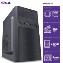 COMPUTADOR BUSINESS B300 - I3-8100 3.6GHZ 8GB DDR4 SSD 240GB HDMI/VGA FONTE 200W - B81002408 - SKUL - 1
