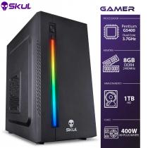 COMPUTADOR GAMER 1000 - PENTIUM G5400 3.7GHZ 8ª GER. MEM. 8GB DDR4 HD 1TB FONTE 400W 80 PLUS WHITE - GG54001T8 - SKUL - 1