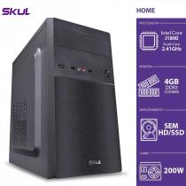 COMPUTADOR HOME H100 - CELERON DUAL CORE J1800 2.41GHZ MEM 4GB DDR3 SODIMM SEM HD/SSD HDMI/VGA FONTE 200W - 1