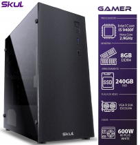 COMPUTADOR GAMER 5000 - I5 9400F 2.9GHZ 9ª GER. MEM. 8GB DDR4 SSD 240GB SEM VIDEO INTEGRADO FONTE 600W - 1