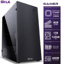 COMPUTADOR GAMER 5000 - I5 9400F 2.9GHZ 9ª GER. SEM VÍDEO INTEGRADO MEM.8GB DDR4 HD 1TB SSD 120GB FONTE 600W - 1