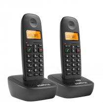 TELEFONE SEM FIO TS 2512 PRETO 2 UNIDADES (APARELHO + RAMAL) - 1