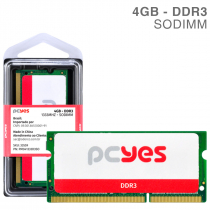 MEMORIA PCYES SODIMM 4GB DDR3 1333MHZ - PM041333D3SO - 1