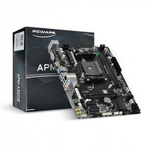 PLACA-MAE PCWARE P/ AMD RYZEN MATX APM-A320G, 2XDDR4 32GB, HDMI, VGA, 2X PCIE, 1XPCI X16, USB 3.0