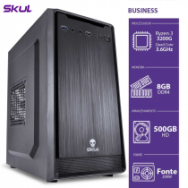 COMPUTADOR BUSINESS B300 - R3-3200G 3.6GHZ 8GB DDR4 HD 500GB HDMI/VGA FONTE 200W - B3200G5008 - SKUL