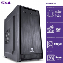COMPUTADOR BUSINESS B300 - I3-4130 3.4GHZ 8GB DDR3 HD 500GB HDMI/VGA FONTE 200W - B41305008 - SKUL
