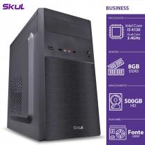 COMPUTADOR BUSINESS B300 - I3-4130 3.4GHZ 8GB DDR3 HD 500GB HDMI/VGA FONTE 200W - B41305008 - SKUL - 1