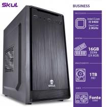 COMPUTADOR BUSINESS B500 - I5-9400 2.9GHZ 16GB(2X8GB) DDR4 HD 1TB HDMI/VGA FONTE 350W - B94001T16 - 1
