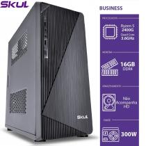 COMPUTADOR BUSINESS B500 - RYZEN 5 2400G 3.6GHZ 16GB DDR4 SEM HD/SSD HDMI/VGA FONTE 300W - 1
