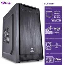 COMPUTADOR BUSINESS B500 - RYZEN 5 2400G 3.6GHZ 16GB DDR4 SEM HD/SSD HDMI/VGA FONTE 300W PFC ATIVO - 1
