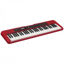 TECLADO MUSICAL CASIOTONE BASICO DIGITAL VERMELHO CT-S200RDC2-BR - 1
