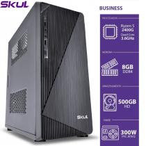 COMPUTADOR BUSINESS B500 - RYZEN 5 2400G 3.6GHZ 8GB DDR4 HD 500GB HDMI/VGA FONTE 300W - 1