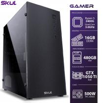COMPUTADOR GAMER 5000 - RYZEN 5 2400G 3.6GHZ MEM 16GB (2X8GB) SSD 480GB VGA GTX 1050 TI 4GB FONTE 500W - 1