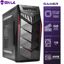 COMPUTADOR GAMER 3000 - I3 9100F 3.6GHZ 9ª GER. SEM VÍDEO INTEGRADO MEM. 8GB DDR4 HD 1TB FONTE 400W 80 PLUS WHITE - 1