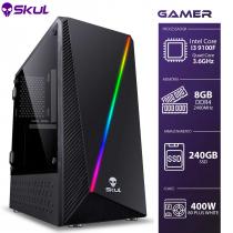 COMPUTADOR GAMER 3000 - I3 9100F 3.6GHZ 9ª GER. SEM VÍDEO INTEGRADO MEM. 8GB DDR4 SSD 240GB FONTE 400W 80 PLUS WHITE