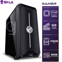 COMPUTADOR GAMER 3000 - I3 9100F 3.6GHZ 9ª GER. SEM VÍDEO INTEGRADO MEM. 8GB DDR4 SSD 240GB FONTE 400W 80 PLUS WHITE - 1