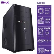 COMPUTADOR BUSINESS B300 - R3-3200G 3.6GHZ 16GB DDR4 (2X 8GB) SSD 120GB HD 1TB RX 570 4GB FONTE 400W - 1