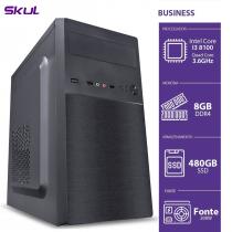 COMPUTADOR BUSINESS B300 - I3-8100 3.6GHZ 8GB DDR4 SSD 480GB HDMI/VGA FONTE 200W - 1