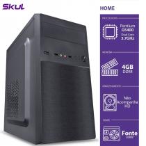 COMPUTADOR HOME H200 - PENTIUM DUAL CORE G5400 3.7GHZ MEM 4GB DDR4 SEM HD/SSD HDMI/VGA FONTE 200W - 1
