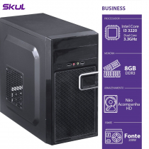 COMPUTADOR BUSINESS B300 - I3-3220 3.3GHZ 8GB DDR3 SEM HD HDMI/VGA FONTE 200W - B32208