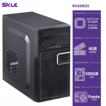 COMPUTADOR BUSINESS B300 - I3-3220 3.3GHZ 4GB DDR3 HD 500GB HDMI/VGA FONTE 200W - B32205004