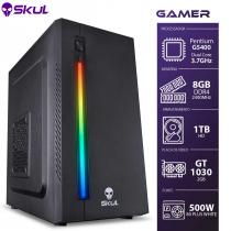 COMPUTADOR GAMER 1000 - PENTIUM G5400 3.7GHZ 8ª GER. MEM. 8GB DDR4 HD 1TB GT 1030 2GB FONTE 500W