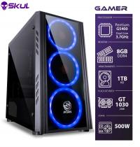 COMPUTADOR GAMER 1000 - PENTIUM G5400 3.7GHZ 8ª GER. MEM. 8GB DDR4 HD 1TB GT 1030 2GB FONTE 500W - 1