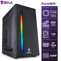 COMPUTADOR GAMER 3000 - I3-9100F 3.6GHZ 9ª GER. MEM. 8GB DDR4 HD 1TB GT 1030 2GB FONTE 500W - 1