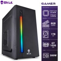 COMPUTADOR GAMER 5000 - I5-3470 3.2GHZ 3ª GER. MEM. 8GB DDR3 HD 1TB GT 1030 2GB FONTE 500W - 1