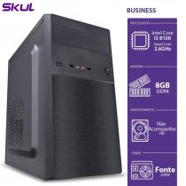 COMPUTADOR BUSINESS B300 - I3-8100 3.6GHZ 8GB DDR4 SEM HD/SSD HDMI/VGA FONTE 200W - 1