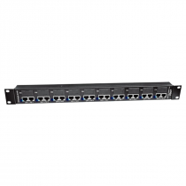 PATCH PANEL POE 10 PORTAS FAST ETHERNET 12.01.014 - 1
