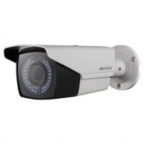 CÂMERA ANALÓGICA BULLET VARIFOCAL 2MP FULL HD TVI/CVI/AHD/CVBS 2,8~12MM IR 40M METAL IP66 DS-2CE16D0T-VFIR3F - 1
