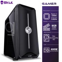 COMPUTADOR GAMER 3000 - R3 3200G 3.6GHZ MEM. 8GB DDR4 SEM HD/SSD FONTE 400W 80 PLUS WHITE
