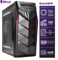 COMPUTADOR GAMER 3000 - R3 3200G 3.6GHZ MEM. 8GB DDR4 SEM HD/SSD FONTE 500W - 1
