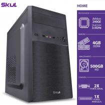 COMPUTADOR HOME H200 - ATHLON DUAL CORE 240GE 3.5GHZ 4GB DDR4 HD 500GB HDMI/VGA 2X SERIAL 1X PARALELA FONTE 300W - 1
