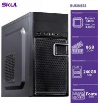 COMPUTADOR BUSINESS B500 - R5-3400G 3.7GHZ 8GB DDR4 SSD 240GB HDMI/VGA FONTE 200W