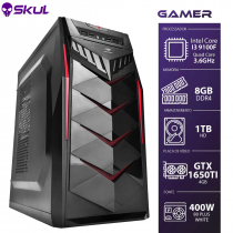 COMPUTADOR GAMER 3000 - I3 9100F 3.6GHZ 9ª GER. MEM. 8GB DDR4 HD 1TB GTX 1650 4GB FONTE 400W - 1